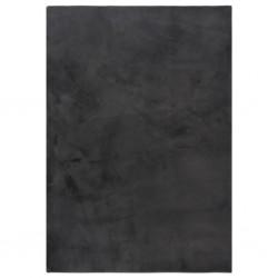 vidaXL Escritorio de esquina aglomerado negro con brillo 145x100x76 cm