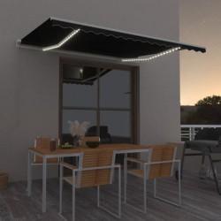 vidaXL Cenador con cortinas gris antracita 300x400x265 cm