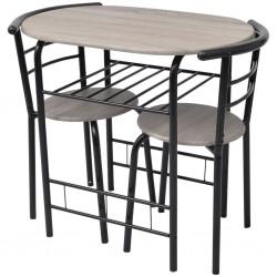 vidaXL Juego de muebles de jardín 8 piezas ratán sintético negro