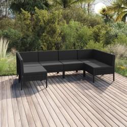 vidaXL Cubo de basura doble negro 2x25 L
