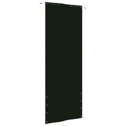 Chubasquero impermeable largo reforzado con capucha verde talla M