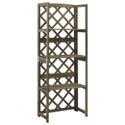 vidaXL Juego de muebles de jardín 3 piezas ratán sintético gris