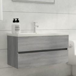 vidaXL Banco de trabajo de acero gris 120x60x85 cm