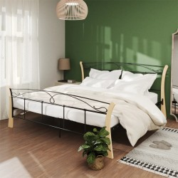 vidaXL Silla de oficina giratoria de madera curvada y tela gris