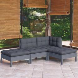vidaXL Depósito de agua con ruedas para camping gris 40 L