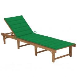vidaXL Camilla de masaje plegable 2 zonas madera negro y blanco