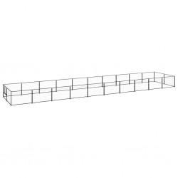vidaXL Camilla de masaje plegable 3 zonas madera negro y naranja