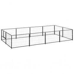vidaXL Camilla de masaje plegable 3 zonas madera negro y beige