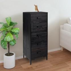 vidaXL Lavabo cuadrado de cerámica negro 38x38x13,5 cm