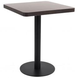 vidaXL Caja de aluminio forma trapezoide negra 70x24x42 cm