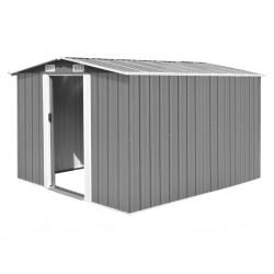 vidaXL Cartelera de exposición plegable 7 paneles con mesas blanco