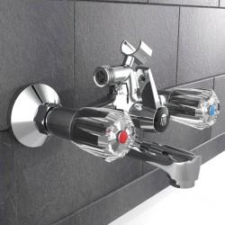 vidaXL Juego perchas ropa 100 uds antideslizantes madera dura blanco