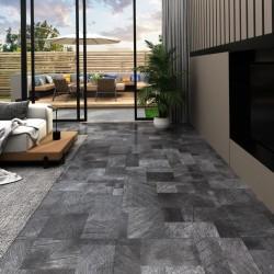 vidaXL Carrito de almacenaje portátil 4 cajones plástico negro