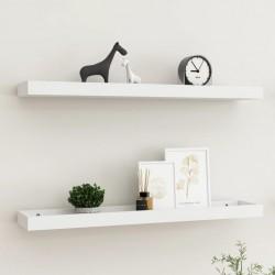 vidaXL Carrito de almacenaje portátil 4 cajones plástico blanco