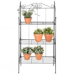 vidaXL Carrito de almacenaje portátil 10 cajones plástico negro