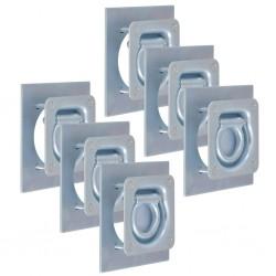 vidaXL Sillas de camping plegables 2 unidades azul