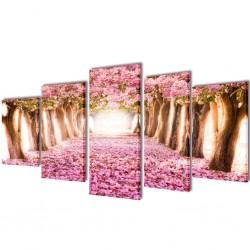 vidaXL Puerta de valla de acero y madera de abeto 408x200cm