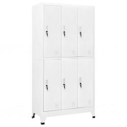 vidaXL Leñero de vidrio blanco 80x35x120 cm