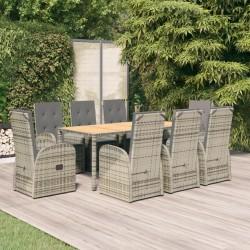vidaXL Banco de tela color crema 140 cm
