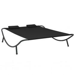 vidaXL Cajas de almacenaje 4 uds tela 32x32x32 cm azul
