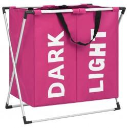 vidaXL Cajas de almacenaje 10 unidades tela rosa 32x32x32 cm