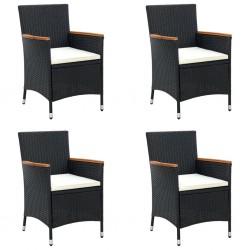 vidaXL Cajas de almacenaje con tapas 4 uds tela morado 32x32x32 cm