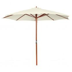 vidaXL Árbol de Navidad con nieve con base de paraguas PVC negro 75 cm