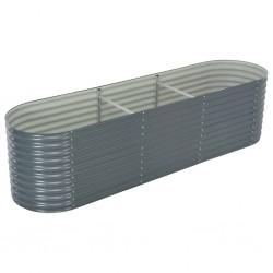 vidaXL Árbol de Navidad artificial desmontable plateado PET 120 cm