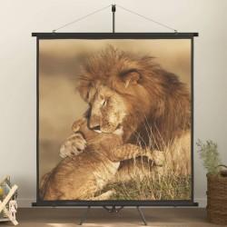 vidaXL Árbol de Navidad artificial con soporte negro PVC 150 cm