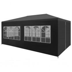 vidaXL Árbol de Navidad artificial con soporte dorado PET 215 cm