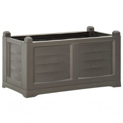 vidaXL Puerta de jardín de acero gris antracita 400x200 cm