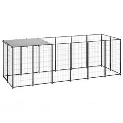 vidaXL Puerta de jardín metal gris antracita 4x1,5 m
