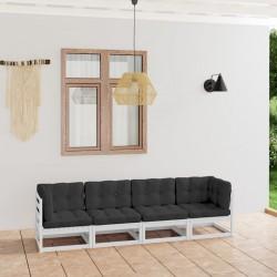 vidaXL Juego de tocador y taburete madera paulownia rosa 75x69x140 cm