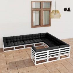 vidaXL Botellero para 11 botellas de vino 80x32x80 cm madera de roble