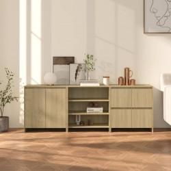 vidaXL Juego de tocador y taburete madera paulownia gris 50x59x136 cm
