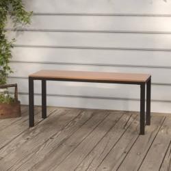 vidaXL Biombo divisor de 5 paneles marrón 200x180 cm