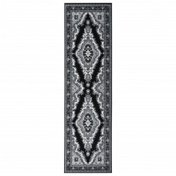 vidaXL Biombo divisor de 5 paneles negro 200x180 cm