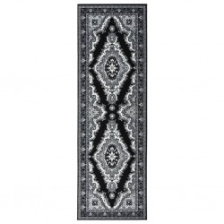 vidaXL Biombo divisor de 3 paneles negro 150x180 cm