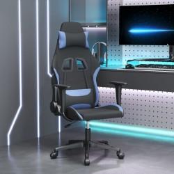 vidaXL Tocador con taburete y espejo triple plegable gris