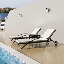 vidaXL Traje de chaqueta de hombre de 2 piezas talla 56 beige