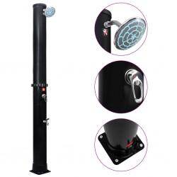 vidaXL Lavabo de cuarto de baño redondo cerámica negro mate
