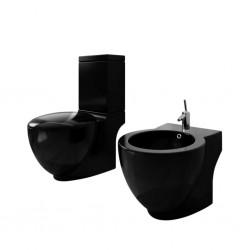 vidaXL Lavabo de lujo ovalado cerámica rosa mate 40x33 cm