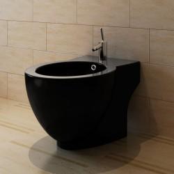 vidaXL Cubo de basura con tapa oscilante 60 L negro y plateado