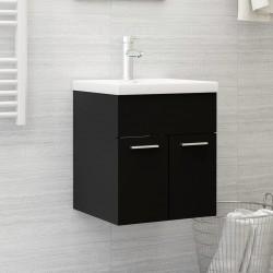 vidaXL Cubo de basura con tapa de bisagra 50 L negro y amarillo