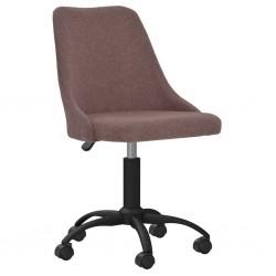 vidaXL Silla de oficina giratoria de tela gris claro
