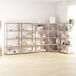 vidaXL Silla de oficina giratoria de tela marrón