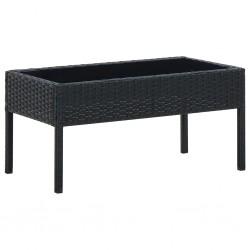 vidaXL Lavabo lujoso con rebosadero cerámica azul claro 58,5x39 cm