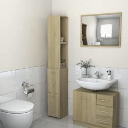 vidaXL Lavabo de lujo redondo cerámica gris oscuro mate 40x15 cm