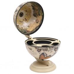 vidaXL Lavabo de lujo redondo cerámica crema mate 40x15 cm