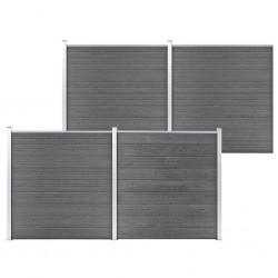 vidaXL Puerta de jardín de acero negro 1x2,2 m